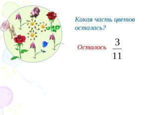 Какая часть цветов осталась? Осталось