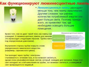 Как функционируют люминесцентные лампы? Люминесцентные лампы расходуют меньше