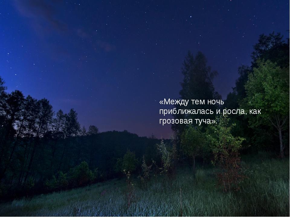 «Между тем ночь приближалась и росла, как грозовая туча».