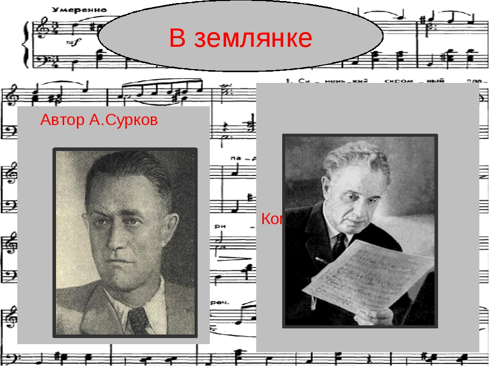 Композитор К. Листов Автор А.Сурков В землянке