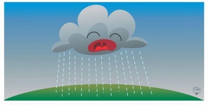 Как получается дождик из облака . (5 картинок ) - Развлекательный портал Pervik66.ru