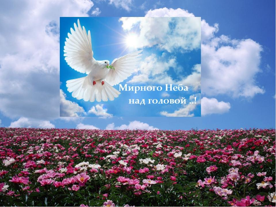 Открытки мирного неба радости и счастья нам и нашим детям