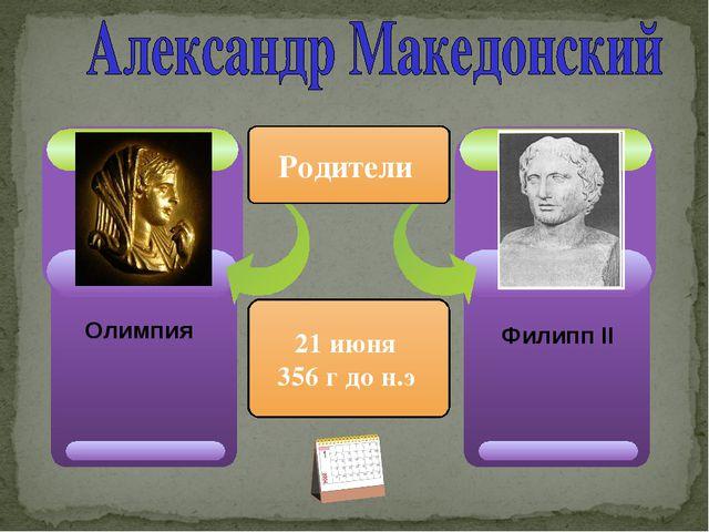 Филипп ІІ Родители 21 июня 356 г до н.э