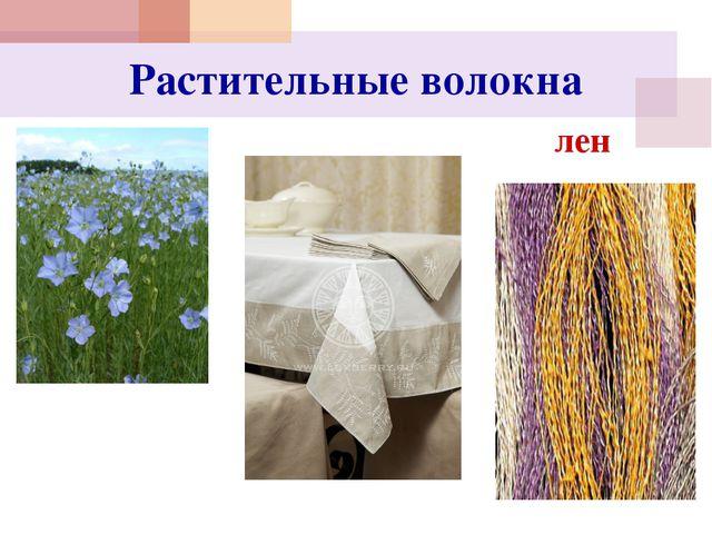 Растительные волокна лен