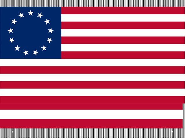 Колониальный флаг Великобритании 14 июня 1777 года образование США