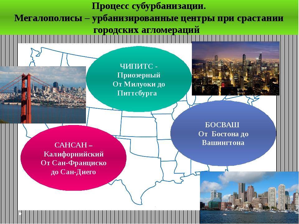 ЧИПИТС - Приозерный От Милуоки до Питтсбурга БОСВАШ От Бостона до Вашингтона...