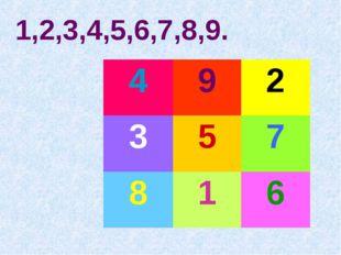 1,2,3,4,5,6,7,8,9.