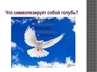 Что символизирует собой голубь?