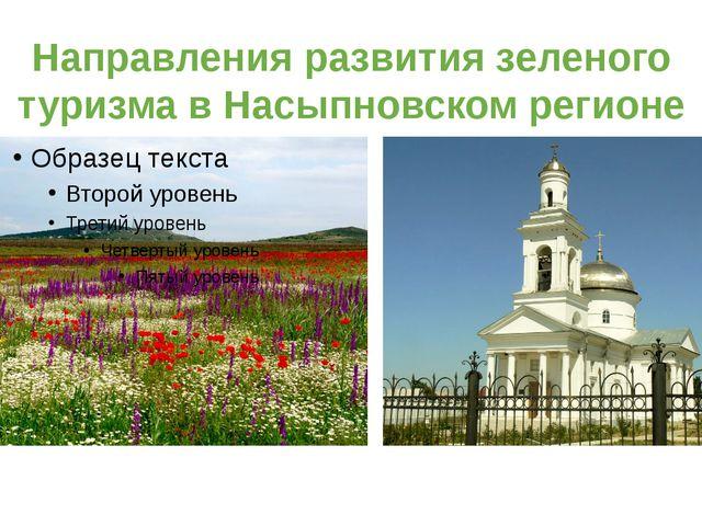 Направления развития зеленого туризма в Насыпновском регионе