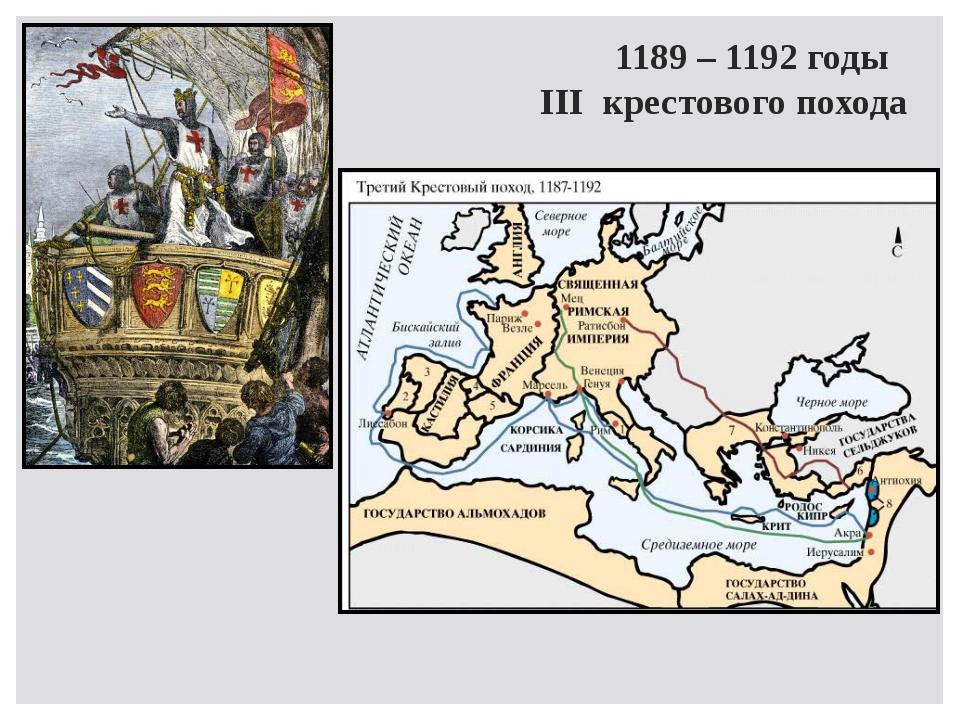 1189 – 1192 годы III крестового похода