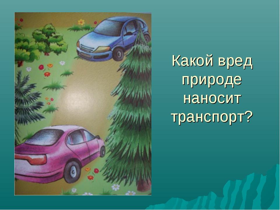 Какой вред природе наносит транспорт?