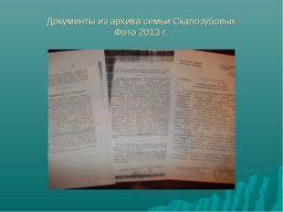 Документы из архива семьи Скалозубовых Фото 2013 г.