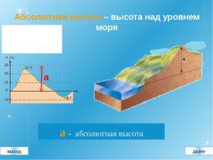 Определение абсолютной высоты по плану местности 1. Определить, через сколько