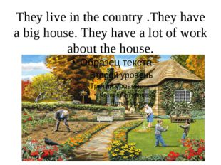 They live in the country .They have a big house. They have a lot of work abou
