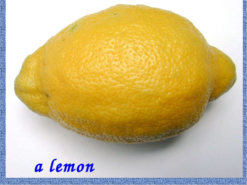 a lemon