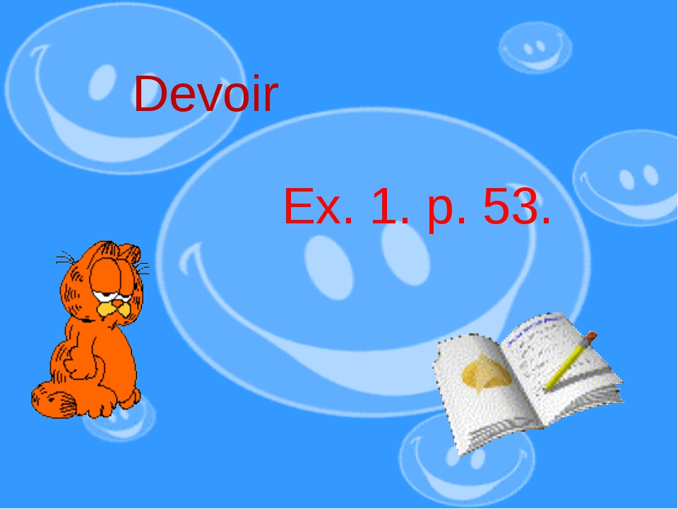 Devoir Ex. 1. p. 53.