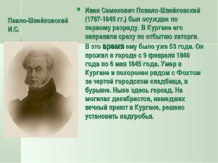 Павло-Швейковский И.С. Иван Семенович Повало-Швейковский (1787-1845 гг.) был