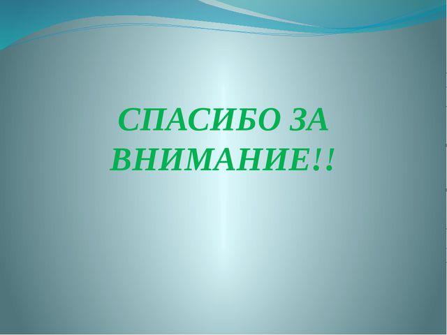 СПАСИБО ЗА ВНИМАНИЕ!!