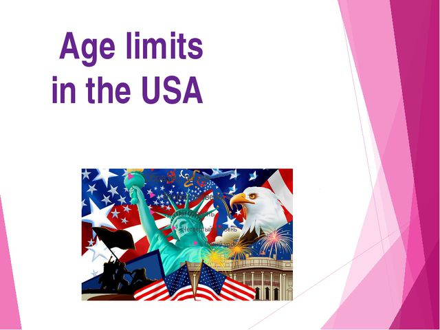 Age limits in the USA