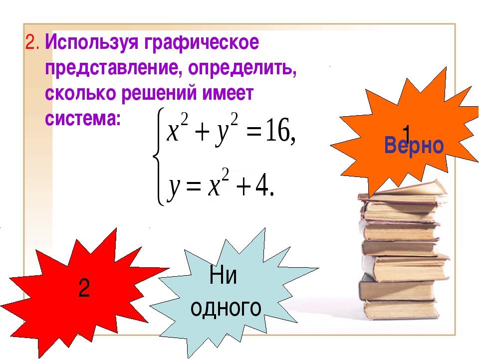 2. Используя графическое представление, определить, сколько решений имеет сис...