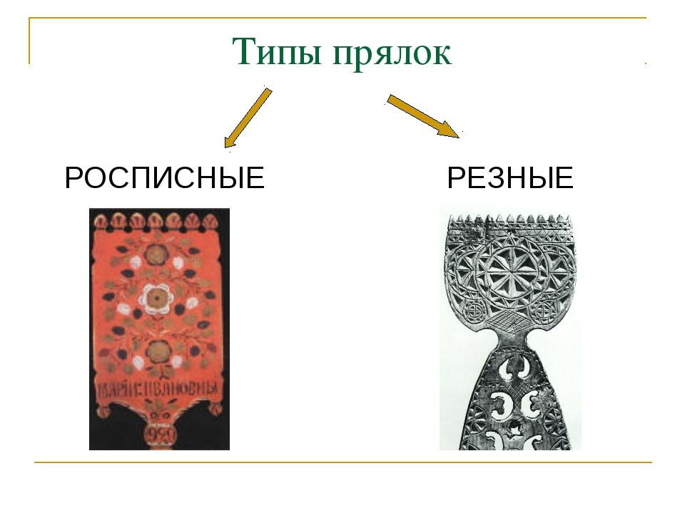 Типы прялок РОСПИСНЫЕ РЕЗНЫЕ