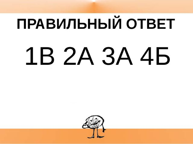 П 1В 2А 3А 4Б ПРАВИЛЬНЫЙ ОТВЕТ