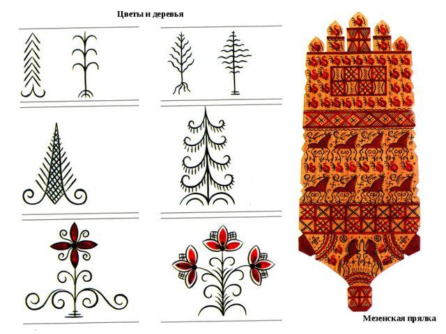 Цветы и деревья Мезенская прялка