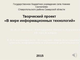 Государственное бюджетное учреждение села Нижнее Санчелеево Ставропольского р