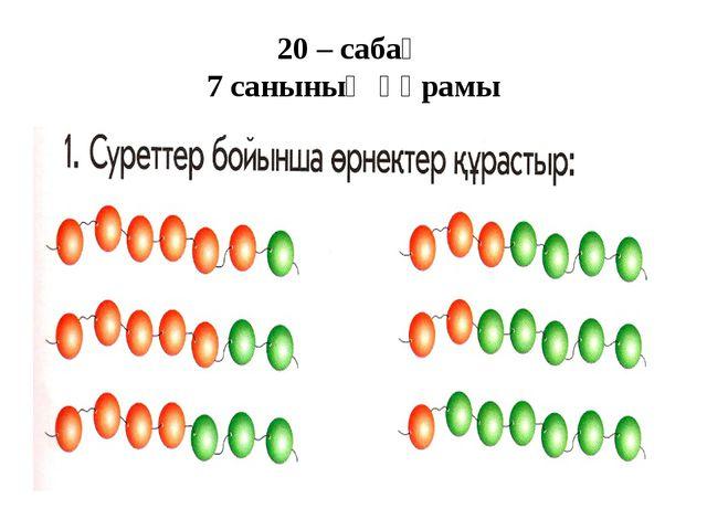 20 – сабақ 7 санының құрамы