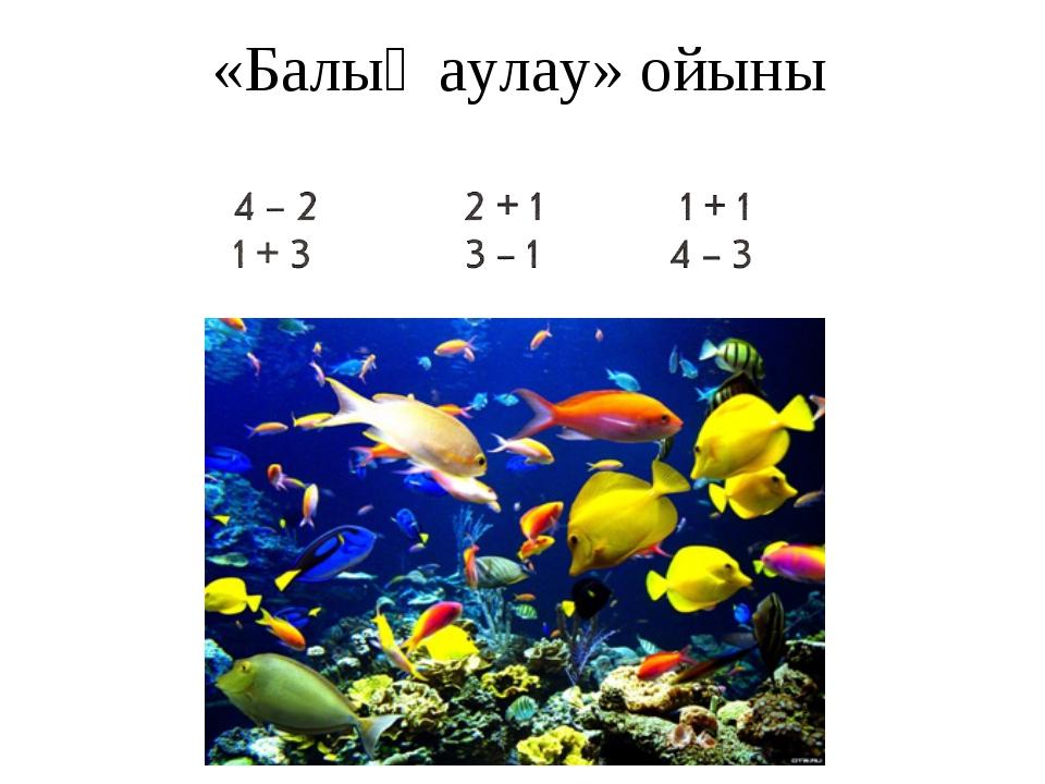 «Балық аулау» ойыны