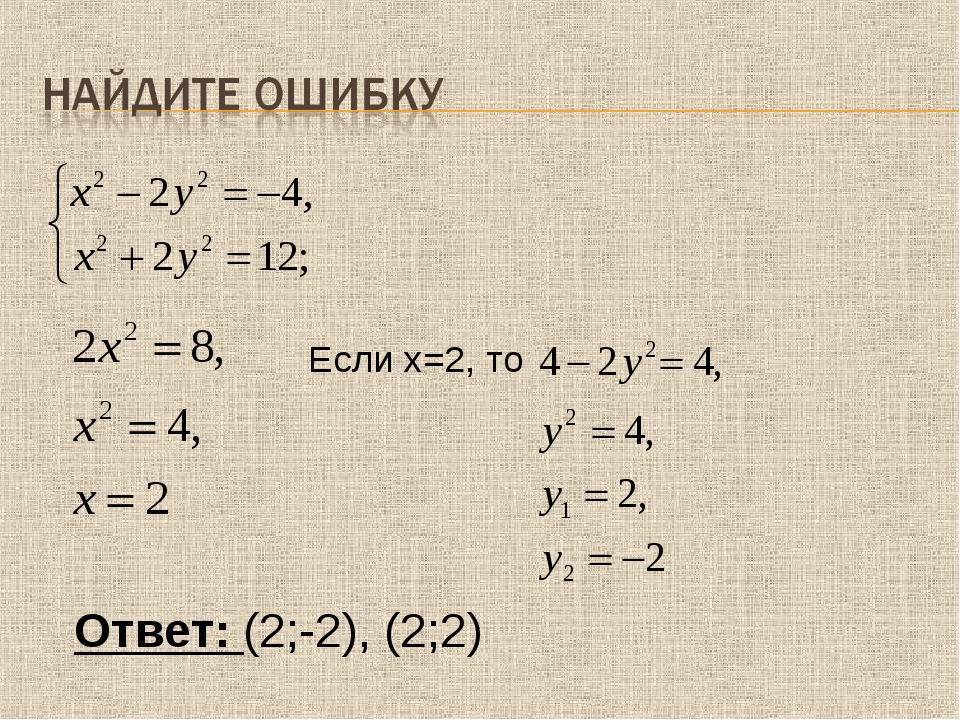 Если х=2, то Ответ: (2;-2), (2;2)