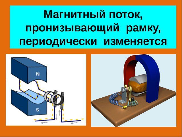Магнитный поток, пронизывающий рамку, периодически изменяется