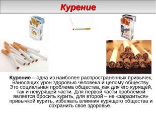 Курение – одна из наиболее распространенных привычек, наносящих урон здоровь