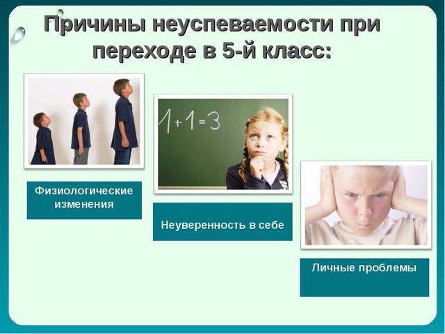 Причины неуспеваемости при переходе в 5-й класс: Физиологические изменения Н...