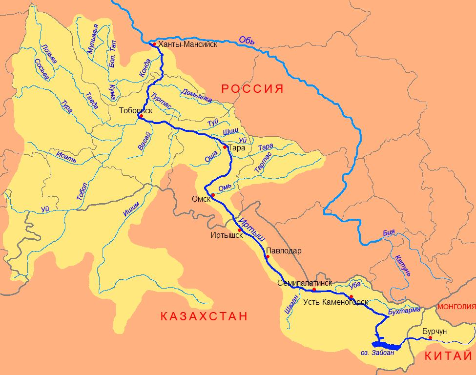 Иртыш (река) - Казахстанский Алтай - Озёра и водохранилища -…