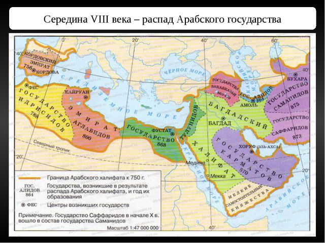 Середина VIII века – распад Арабского государства