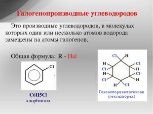 Это производные углеводородов, в молекулах которых один или несколько атомов