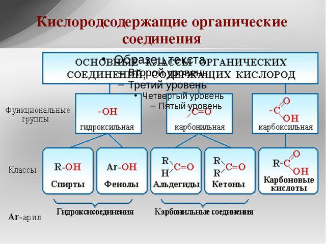 Кислородсодержащие органические соединения