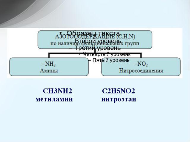 CH3NH2C2H5NO2 метиламин нитроэтан