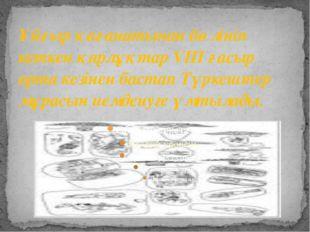 Ұйғыр қағанатынан бөлініп кеткен қарлұқтар VIII ғасыр орта кезінен бастап Түр