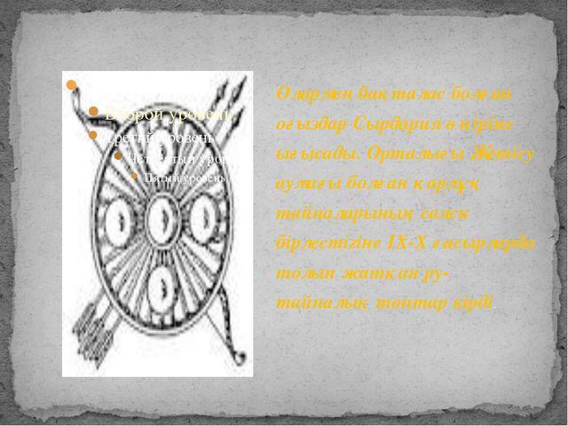 Олармен бақталас болған оғыздар Сырдария өңіріне ығысады. Орталығы Жетісу аум...