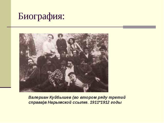 Биография: Валериан Куйбышев (во втором ряду третий справа)в Нарымской ссылке...