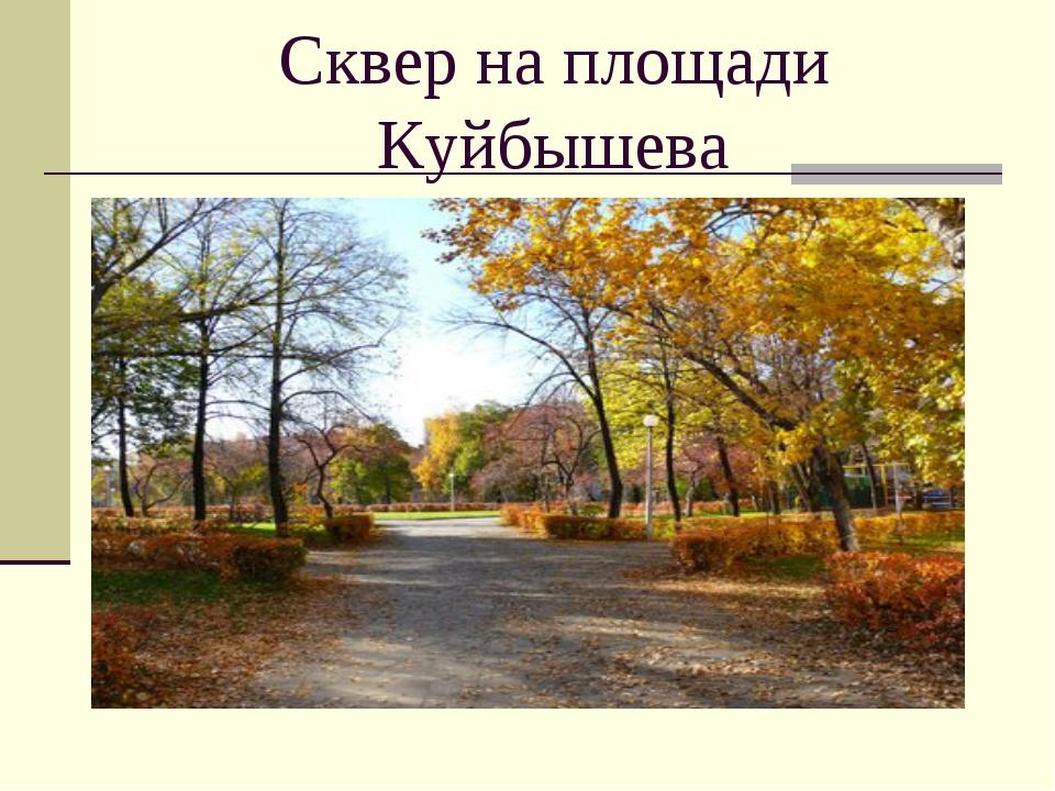 Сквер на площади Куйбышева