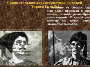 Сравнительная характеристика сыновей Тараса Бульбы Остапу был на роду написан