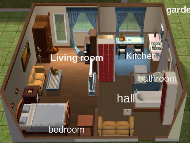 bedroom Living room hall Kitchen bathroom garden