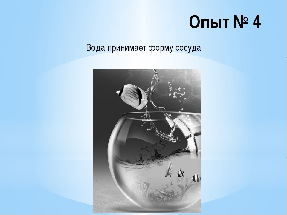 Опыт № 5 Чистая вода прозрачна