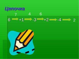 Цепочка 6 +1 -3 +2 -4 2 7 4 6