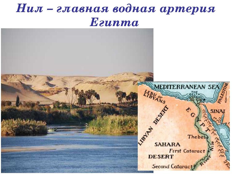 Нил – главная водная артерия Египта