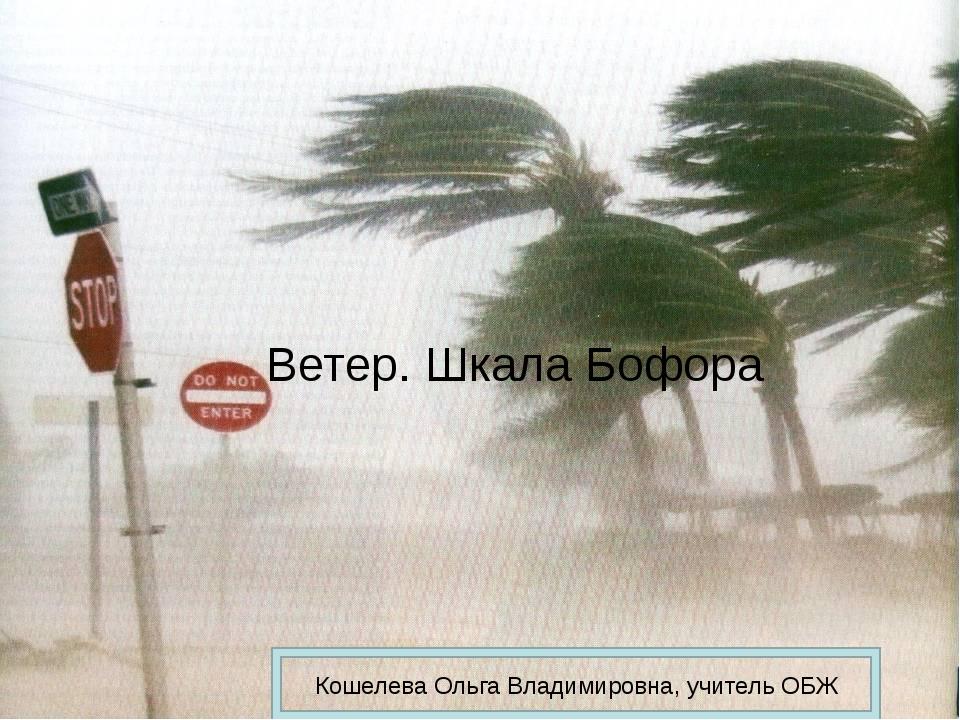 Ветер. Шкала Бофора Кошелева Ольга Владимировна, учитель ОБЖ