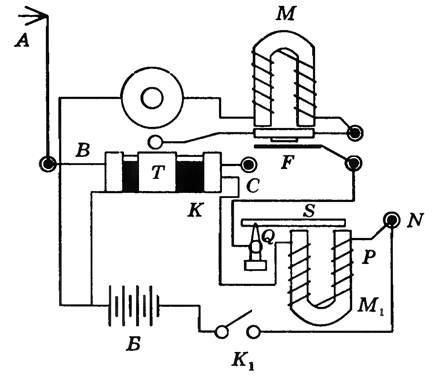 Схема радио поповым